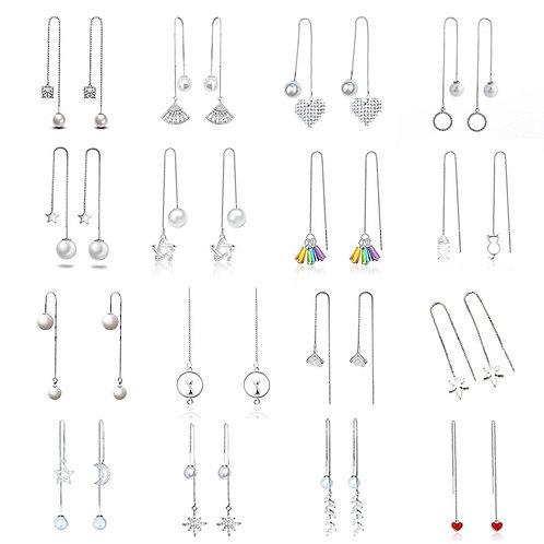 Fashion  Earrings Star Heart Tassel Long Chain  Drop Earing Modern Jewelry