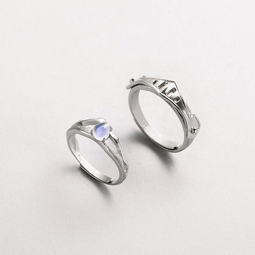 Rings Lovers' Romantic Ring 100% S925 Silver for Women Vintage Elegant Jewelry