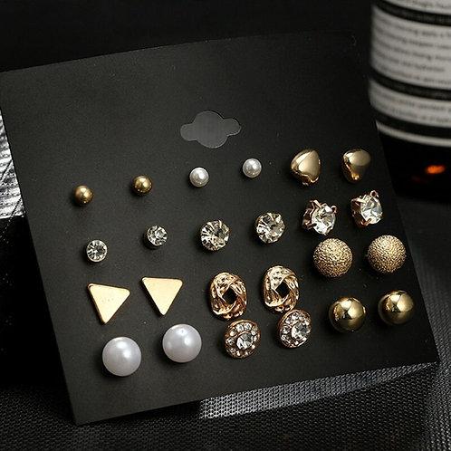 Earrings 12Pair/Sets Stud Earring Sets