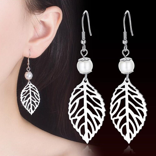 925 Sterling Silver New Jewelry High Quality Woman Fashion Earrings Retro Long T
