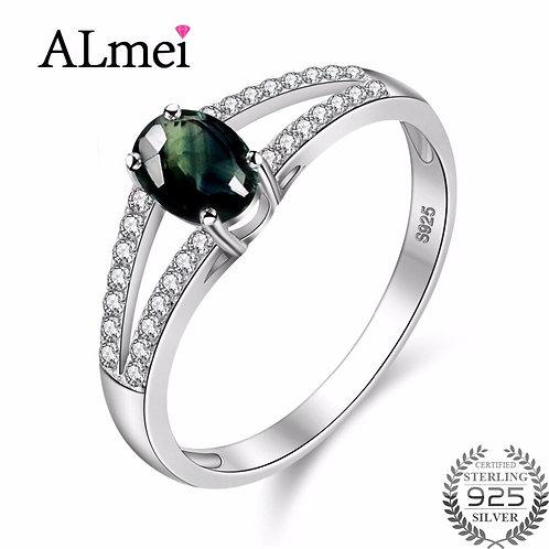 Sapphire Dark Rings 925 Sterling Silver Diamond Jewelry De Plata 925 CJ038