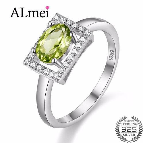 Diamond Jewelry 1ct Peridot Ring 925 Sterling Silver Green Stone 40%off FJ056