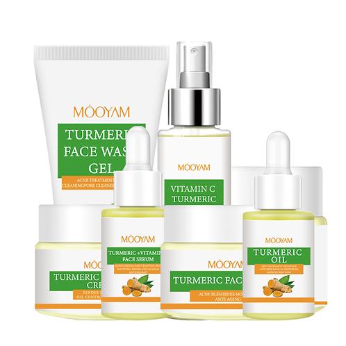 Sell Private Label Turmeric Skin Care Set Anti Acne Serum Oil Facial Organic