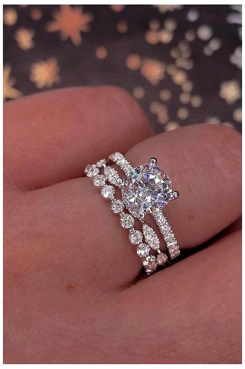 White sapphire ring set