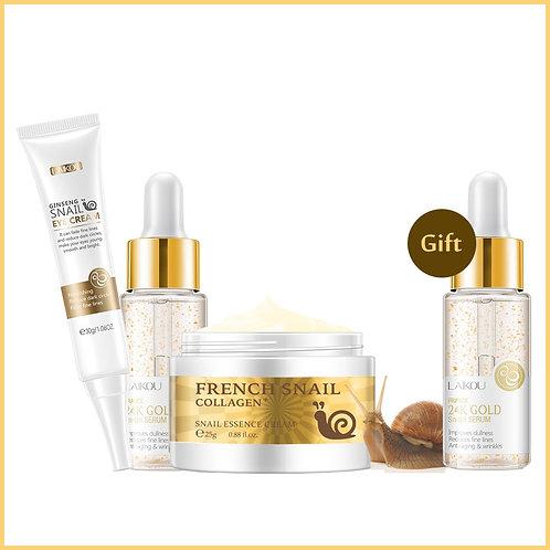 Facial Skin Care Set Face Serum Cream Eye  Nourishing Serum Whitening Cream