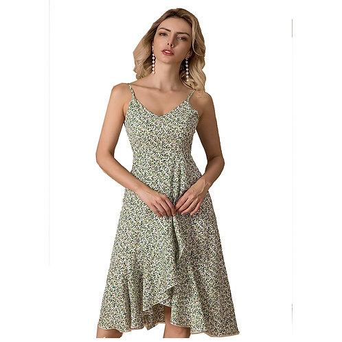 Womens Halter Dress Summer Beach Dress Women Clothes Sexy Lady Floral Spaghet