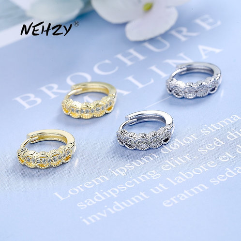 925 Sterling Silver New Woman Fashion Jewelry High Quality Simple Crystal
