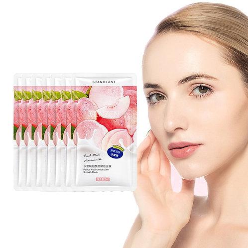 7pcs Peach Niacinamide Pore Brush Mask Mask Skin Care Roughness & Brighten