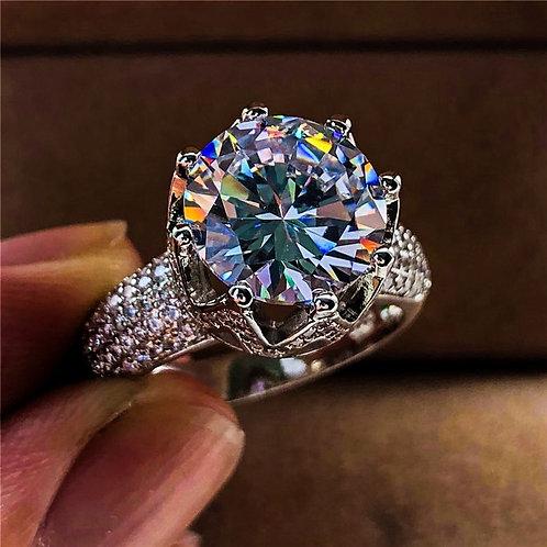 Big Zircon Stone Ring Silver Rings for Women