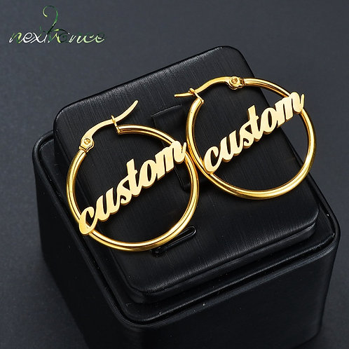 High Quality Personalized Name Drop Earrings Customize Namplate ID Dangle