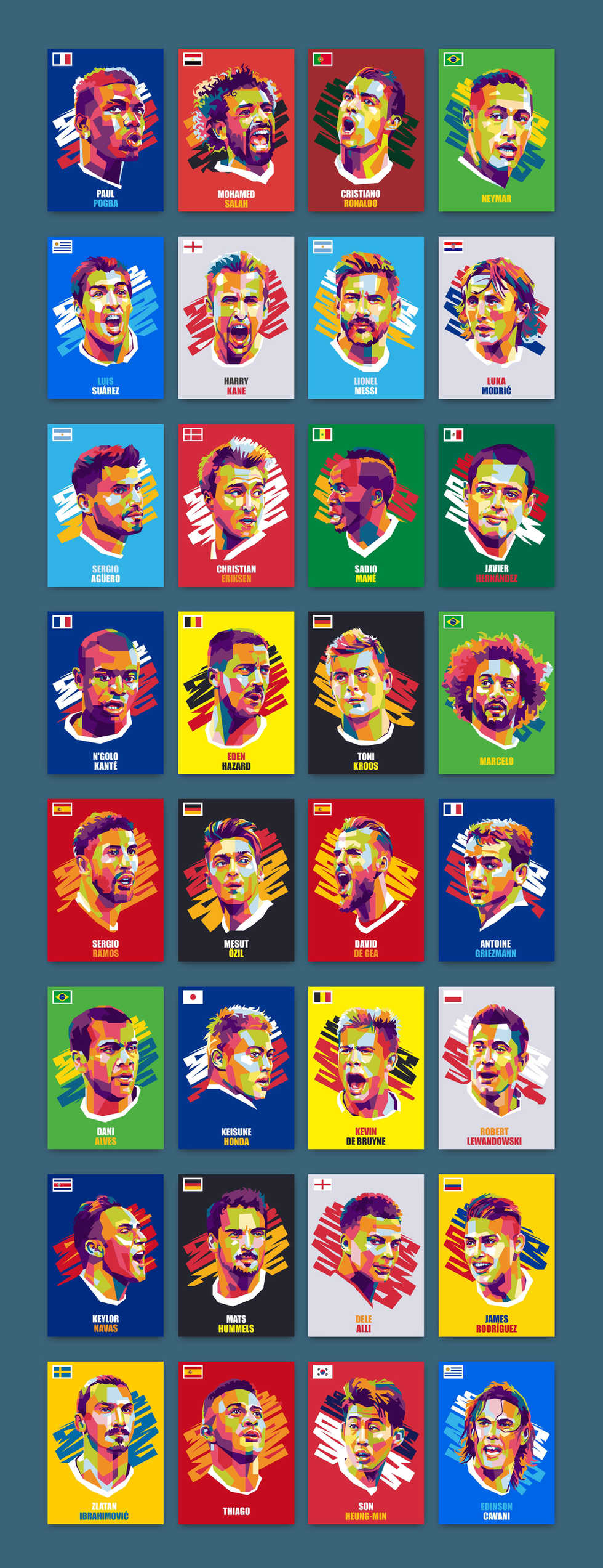 Iconic World Cup 2018 Poraits by Gilang