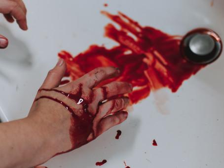 ¡Manchas de sangre!