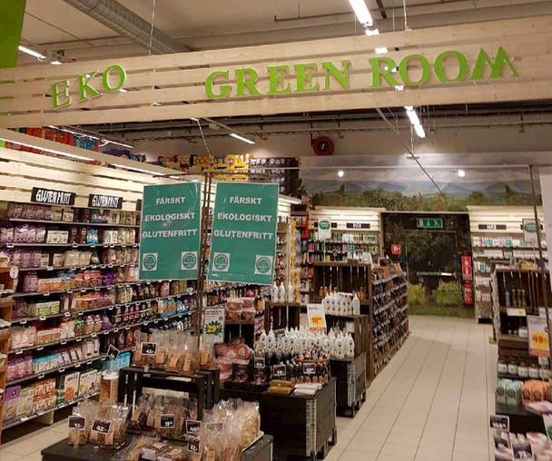 """Lagom till jul! Nya bokstäver """"EKO"""" monterat vid Green Room på CF Sisjön!"""