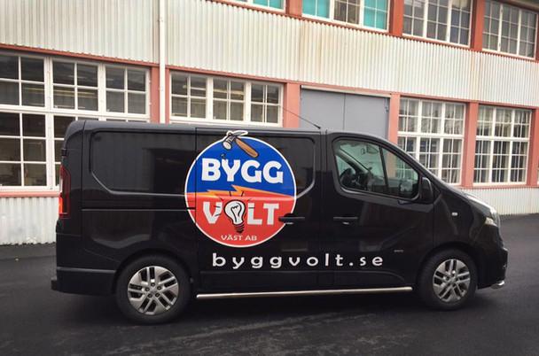 Nya ByggVoltbilen äntligen kittad och klar!
