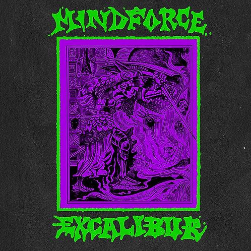 """Mindforce - Excalibur [LP + 7"""" Flexi - Green/Purple Split]"""