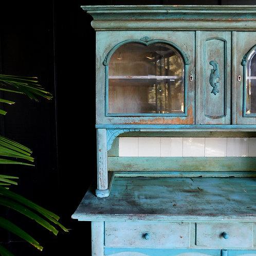 Antique German Waterlake Hutch