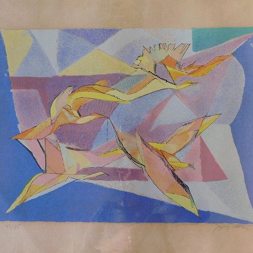 Original Jaques Villon Birds of Flight