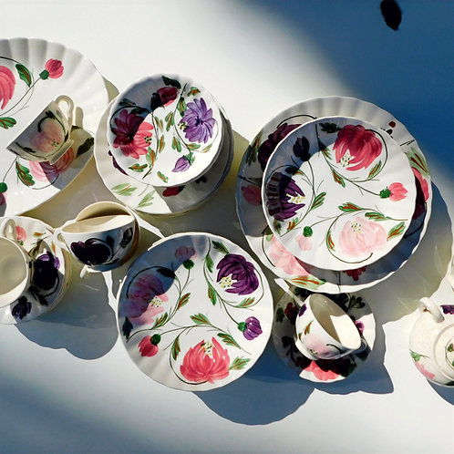 Vintage Floral Plate Collection (sold in individual sets)