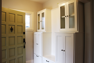 button to custom built-ins for interiors