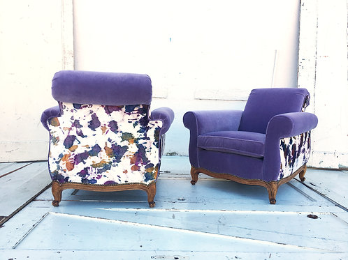 Painterly Club Chairs