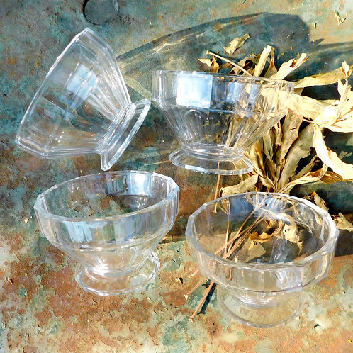 French Deco Style Pedestal Bowls (set of 4)