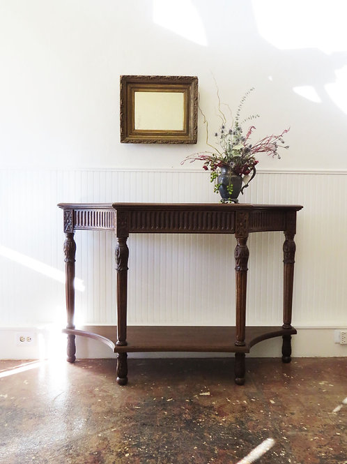 Re-stained Entry Table