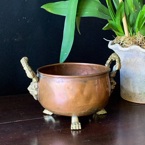 Antique Copper Jardiniere Decor