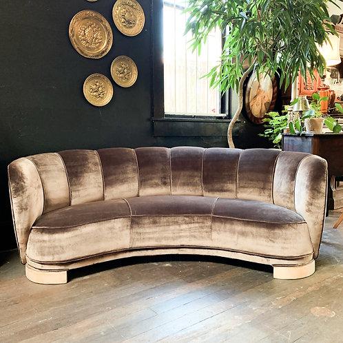 Velvet Banana Sofa