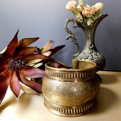 Etched Brass Cuff