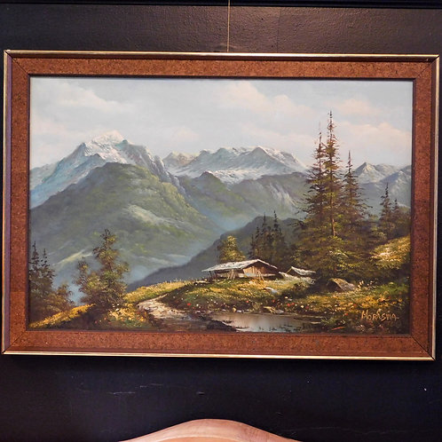 Mountain Landscape Signed