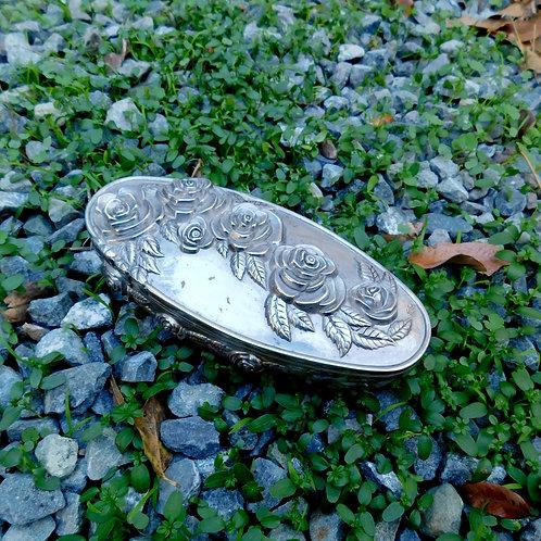 Vintage Flora Silver Boite