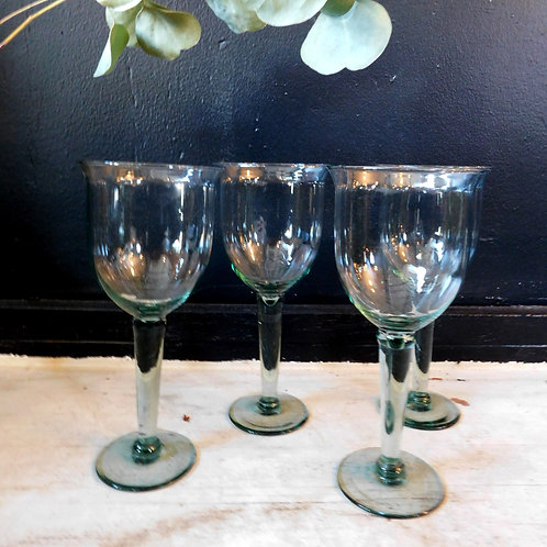 Grand Sea Glass Wine Glasses (set of 4)
