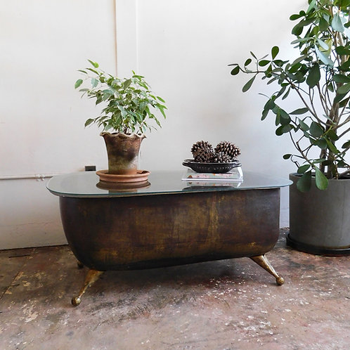 Brass Antique Tub Coffee Table