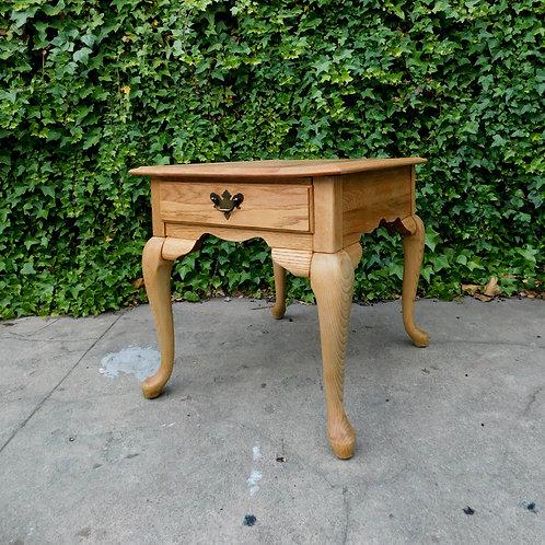 Rustic White Oak Side Table