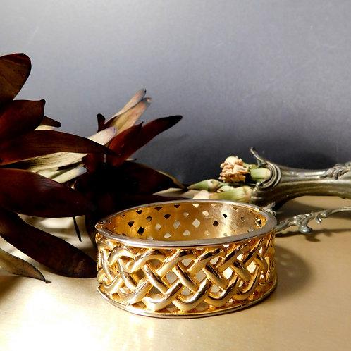 Vintage Gold Hex Clip Bracelet