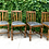 Thumbnail: Craftsman Mission Arts & Crafts Leather Dining Chairs (set of 4)