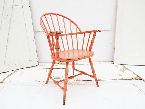 Salmon Metal Spindle Chair