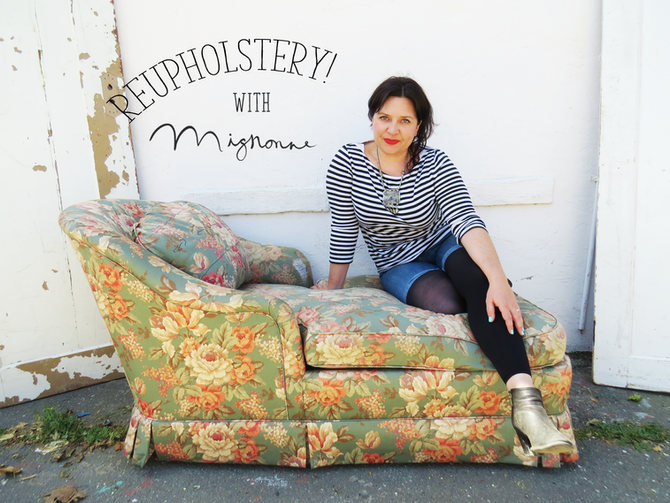 A Reupholstery Story: Before and After!