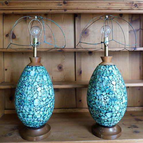 Mid Century Viridescent Lamps (sold individually)