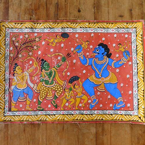 Small Vintage Orissa Indian Art