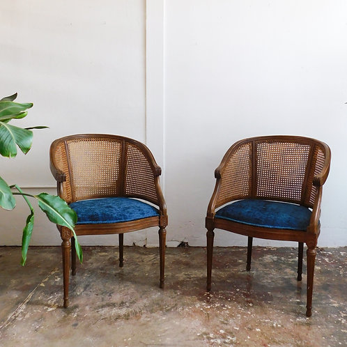 'Marais' Antique Cane Chair Set