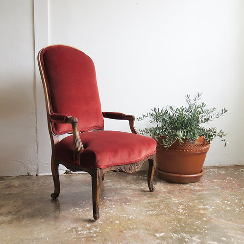 'Bourdeilles' Velvet Chair