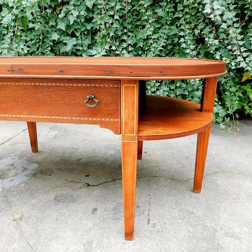 Antique Mahogany Inlay Coffee Table