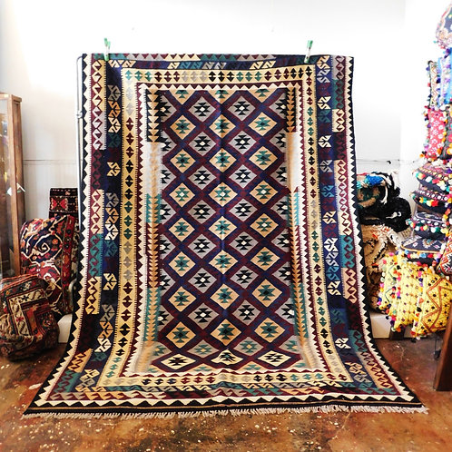 "Turkish Kilim Rug 9'4"" x 6'5"""