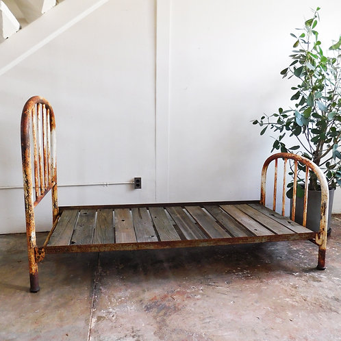 Rustic Metal Twin Farmhouse Bed