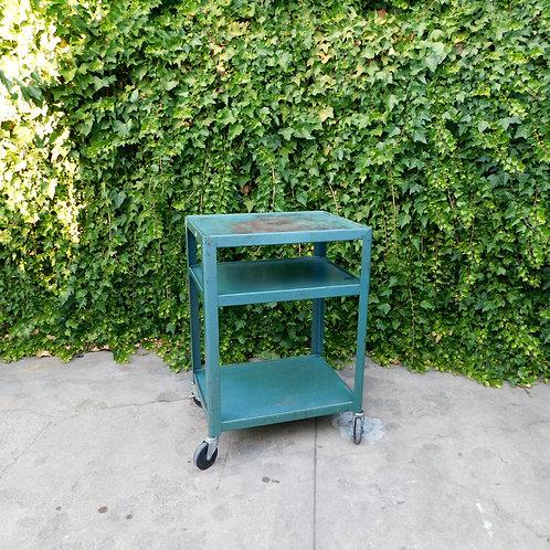 Industrial Teal Weathered Bar / Shop Cart