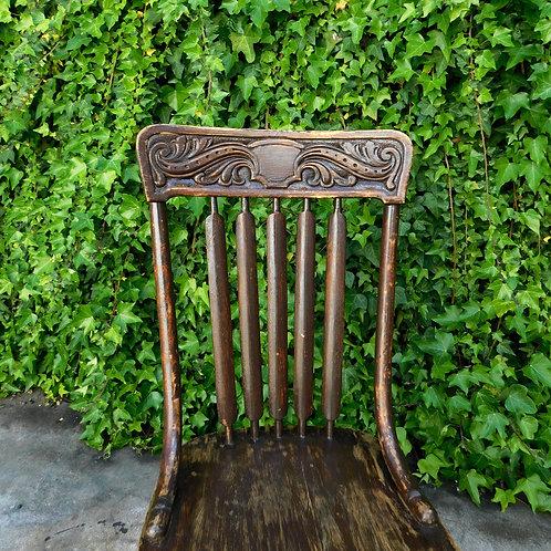 Vintage Cocoa Farmhouse Chair