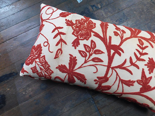 Seville Embroidered Large Lumbar Pillow