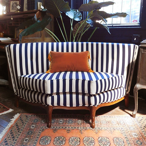 'Nantes' Curved Striped Settee