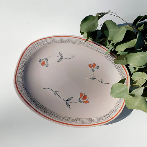 Vintage Floral Motif Dish